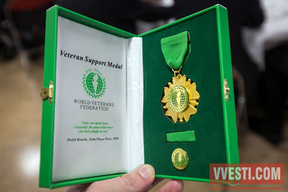 «Ветеранские вести» наградили медалью Всемирной Федерации Ветеранов при ООН