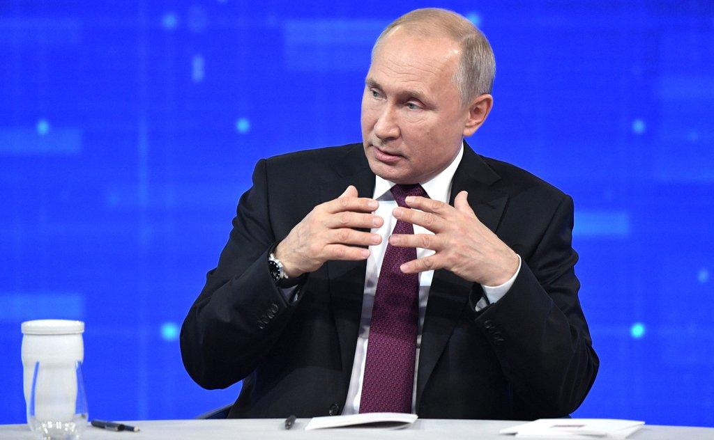 Владимир Путин ответил на вопросы россиян в ходе прямой линии
