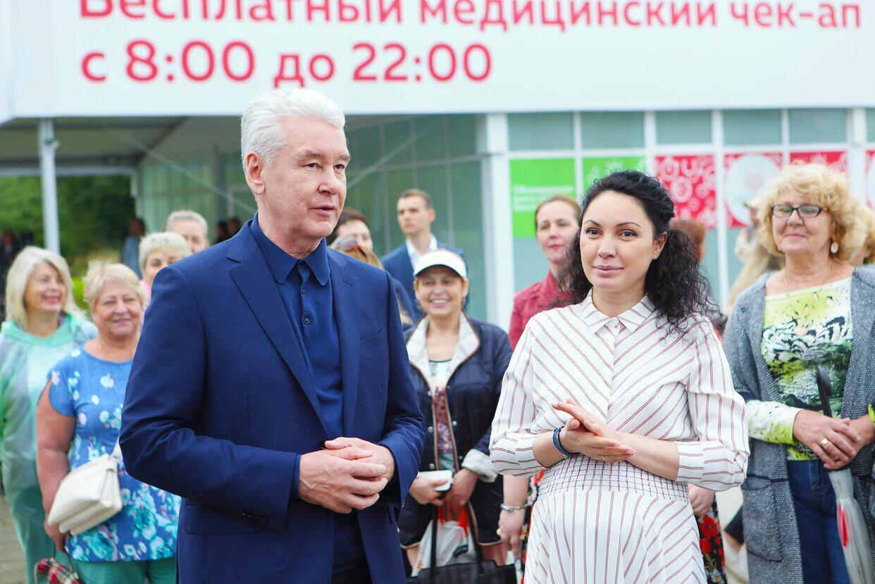 Сабина Цветкова обратилась к мэру с просьбой расширить услуги павильона «Здоровая Москва»