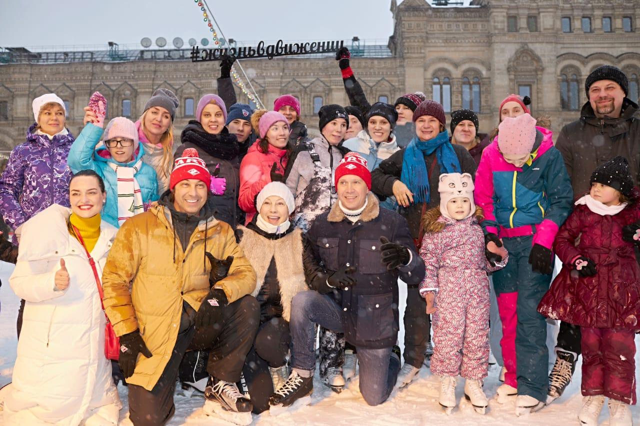 «Волшебный каток» на Красной площади собрал звёзд и детей