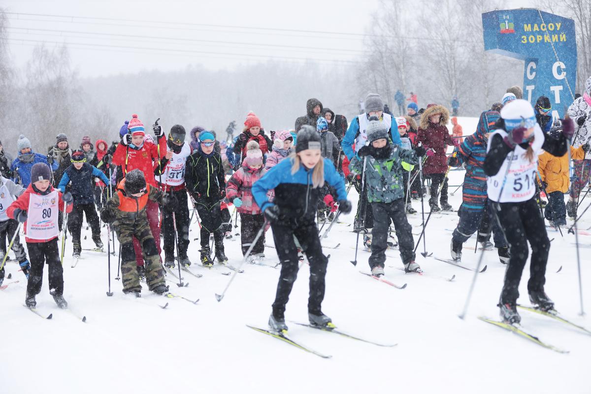 В Красногорске организовали лыжный забег в рамках проекта «Национальный триатлон – 2021»